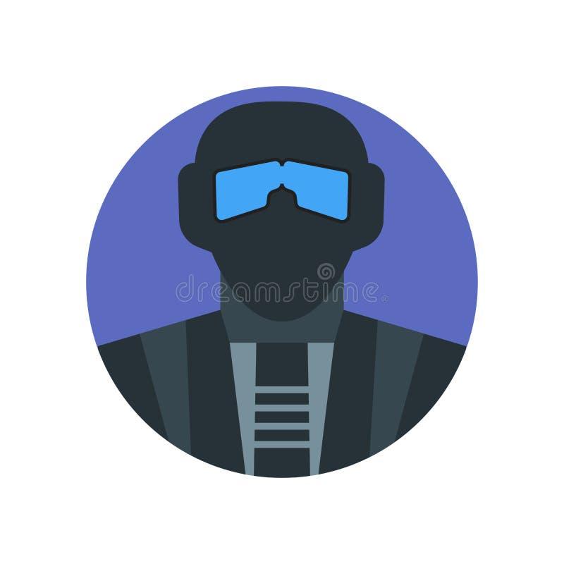 Signe et symbole de vecteur d'icône de coup d'isolement sur le fond blanc, concept de logo de coup illustration stock