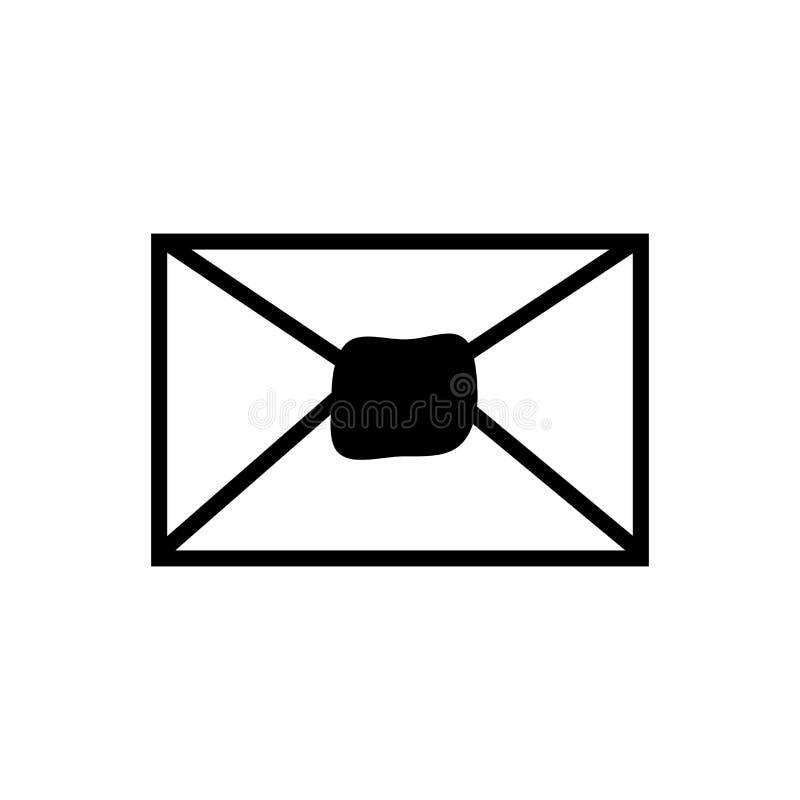 Signe et symbole de vecteur d'icône de courrier d'isolement sur le fond blanc, concept de logo de courrier illustration de vecteur