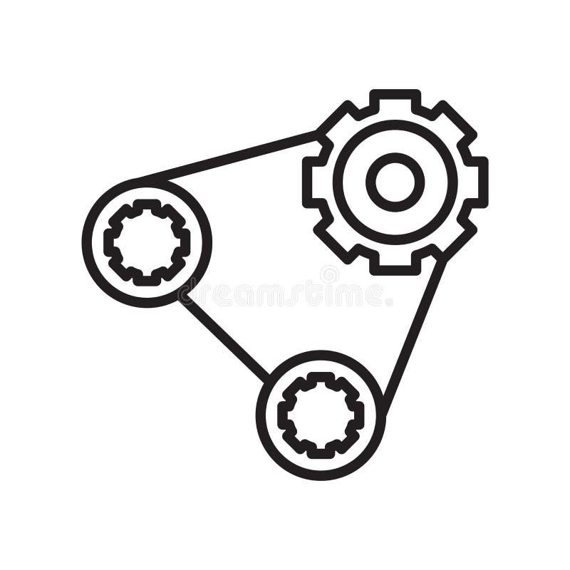 Signe et symbole de vecteur d'icône de courroie d'isolement sur le backgr blanc illustration libre de droits