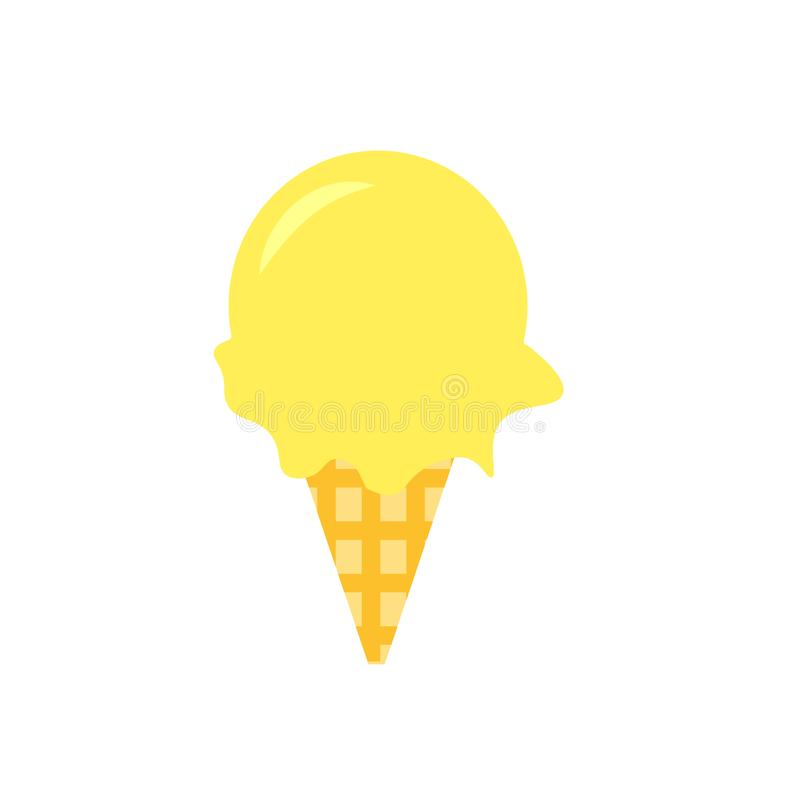 Signe et symbole de vecteur d'icône de crème glacée d'isolement sur le fond blanc, concept de logo de crème glacée  illustration stock