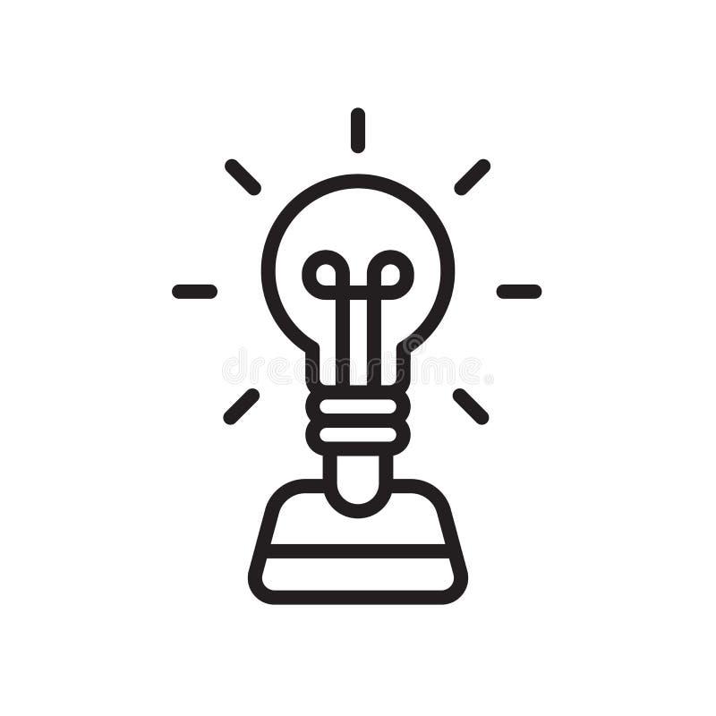 Signe et symbole de vecteur d'icône de création d'isolement sur le backgroun blanc illustration stock