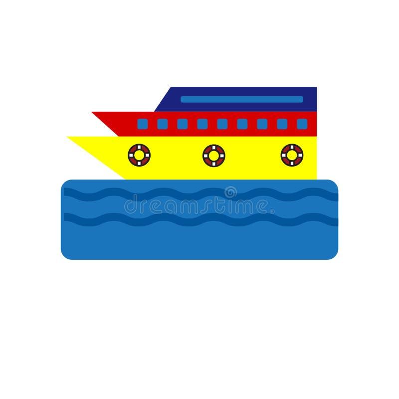 Signe et symbole de vecteur d'icône de croisière d'isolement sur le fond blanc, concept de logo de croisière illustration libre de droits
