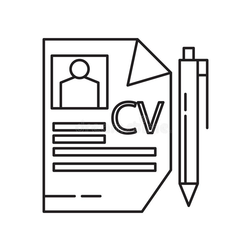 vecteur logo template curriculum vitae simple illustration