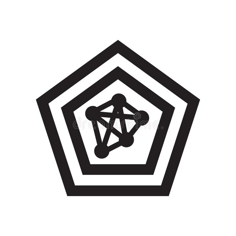 Signe et symbole de vecteur d'icône de diagramme d'araignée d'isolement sur le backg blanc illustration libre de droits