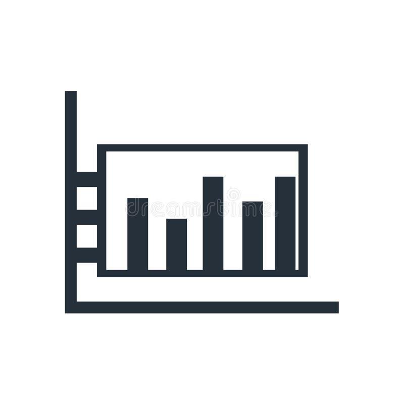 Signe et symbole de vecteur d'icône de diagramme de barre d'isolement sur le fond blanc, concept de logo de diagramme de barre illustration stock