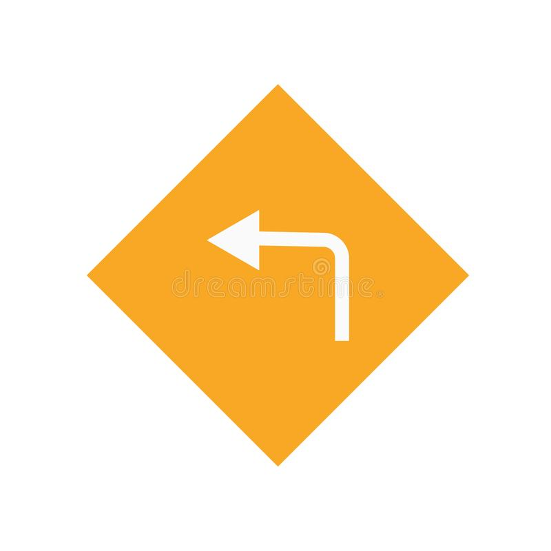 Signe et symbole de vecteur d'icône de direction d'isolement sur le fond blanc, concept de logo de direction illustration de vecteur