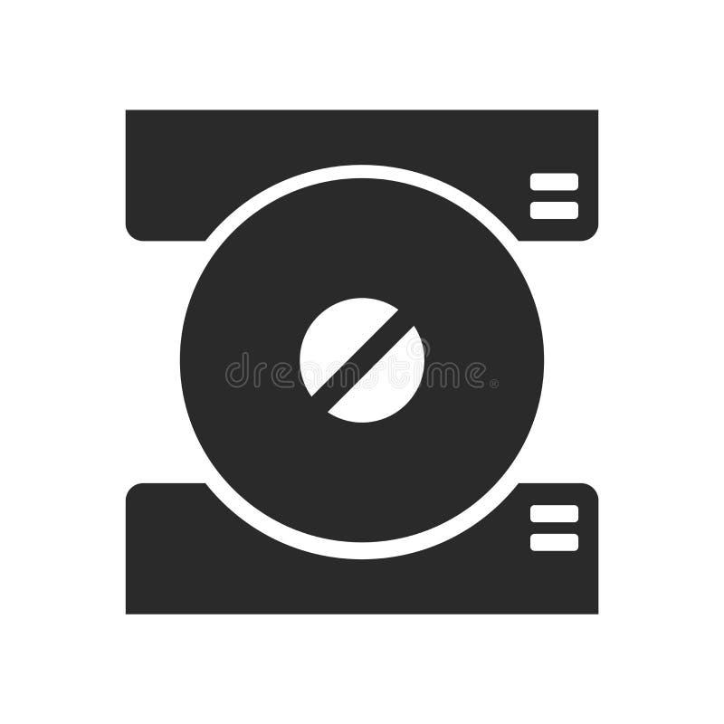 Signe et symbole de vecteur d'icône de disque compact d'isolement sur le backg blanc illustration libre de droits