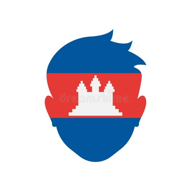 Signe et symbole de vecteur d'icône du Cambodge d'isolement sur le backgroun blanc illustration libre de droits