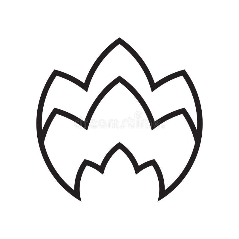 Signe et symbole de vecteur d'icône du feu d'isolement sur le fond blanc, F illustration libre de droits
