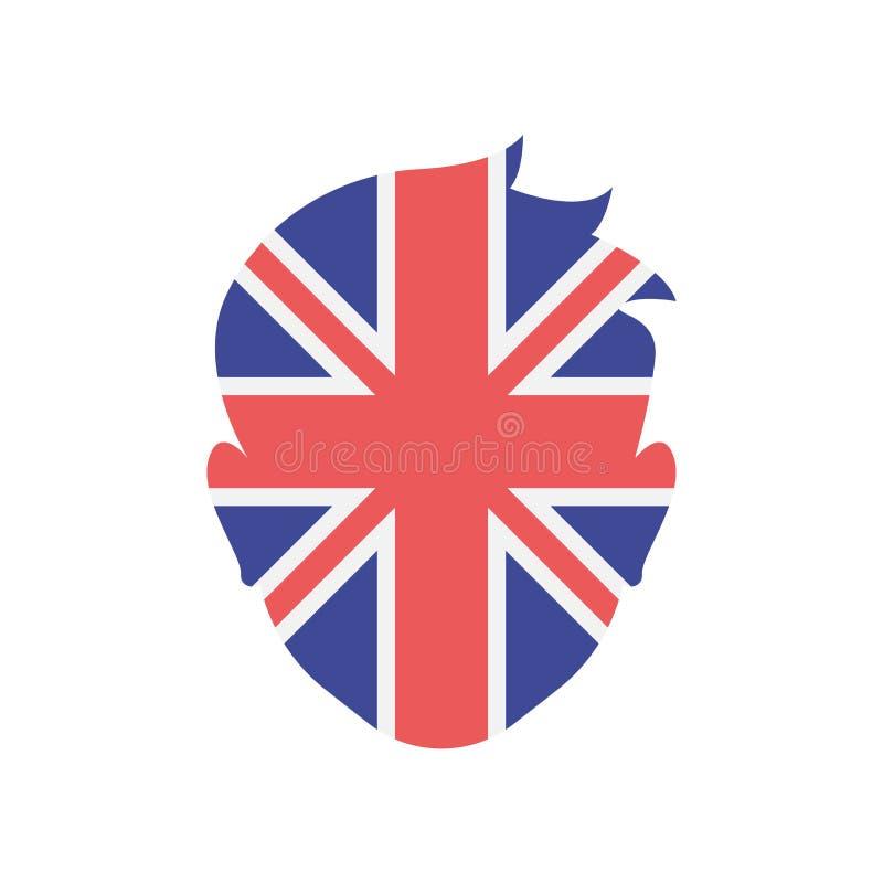 Signe et symbole de vecteur d'icône du Royaume-Uni d'isolement sur le CCB blanc illustration de vecteur