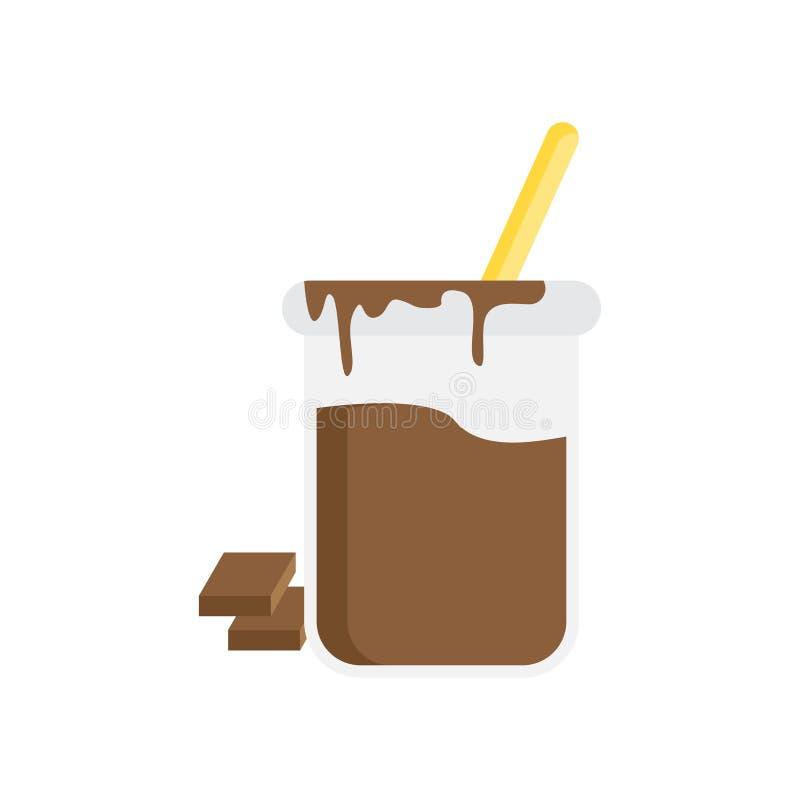 Signe et symbole de vecteur d'icône de Dulce de leche d'isolement sur le fond blanc, concept de logo de Dulce de leche illustration stock