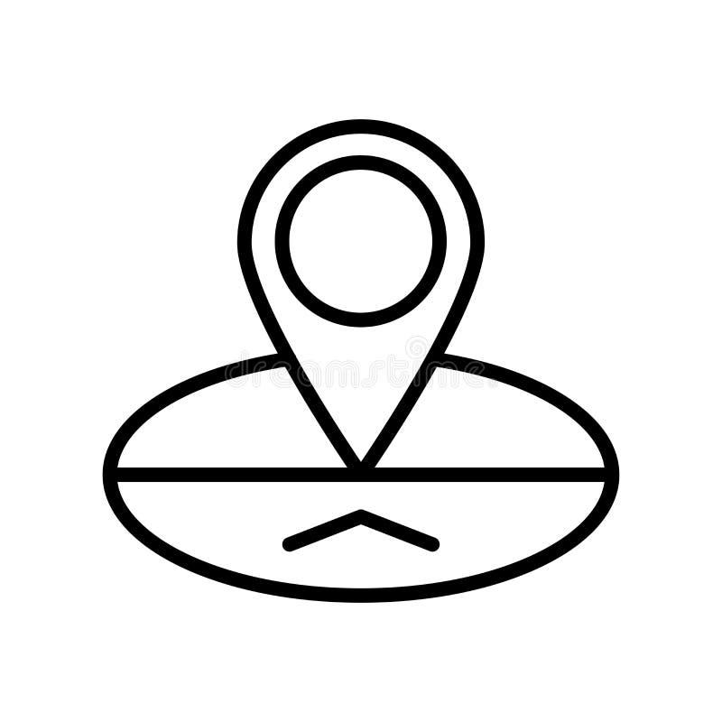 Signe et symbole de vecteur d'icône d'emplacement d'isolement sur le backgroun blanc illustration de vecteur