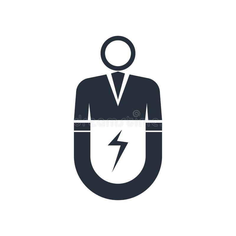 Signe et symbole de vecteur d'icône d'engagement d'utilisateur d'isolement sur le fond blanc, concept de logo d'engagement d'util illustration stock