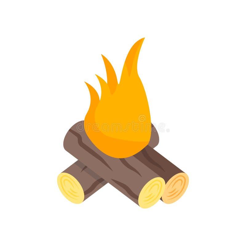 Signe et symbole de vecteur d'icône de feu d'isolement sur le fond blanc, concept de logo de feu illustration de vecteur