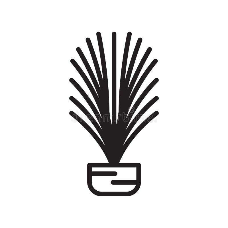 Signe et symbole de vecteur d'icône de feuille de mélèze d'isolement sur le backgro blanc illustration de vecteur