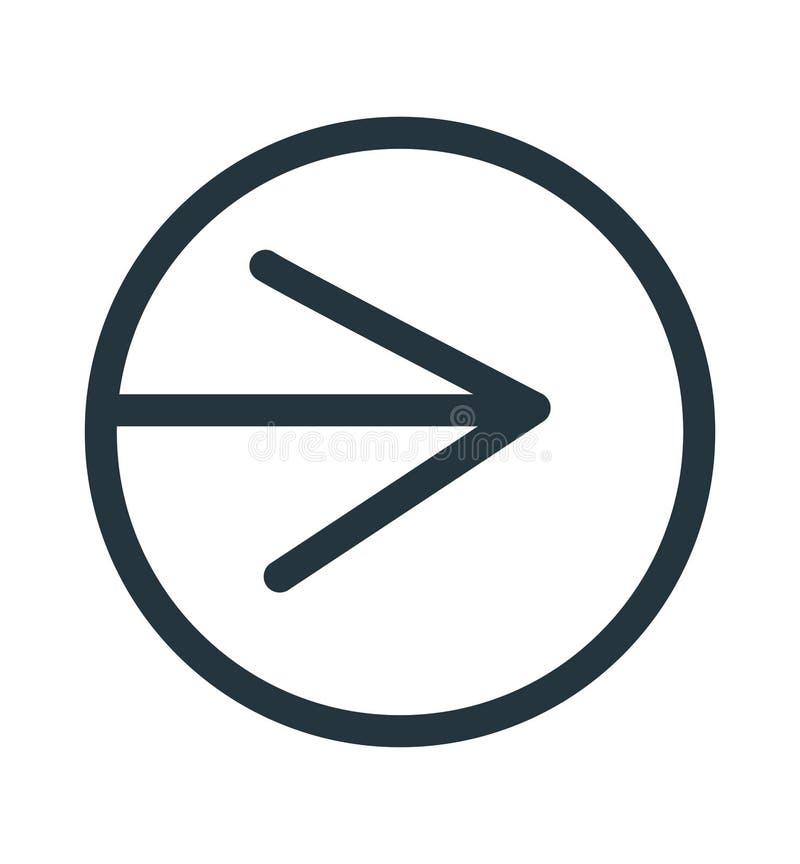 Signe et symbole de vecteur d'icône de flèche droite d'isolement sur le fond blanc, concept de logo de flèche droite illustration libre de droits