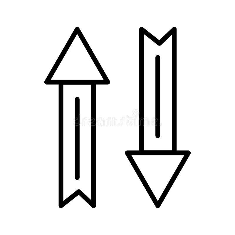 Signe et symbole de vecteur d'icône de flèche de souris d'isolement sur le fond blanc, concept de logo de flèche de souris illustration libre de droits