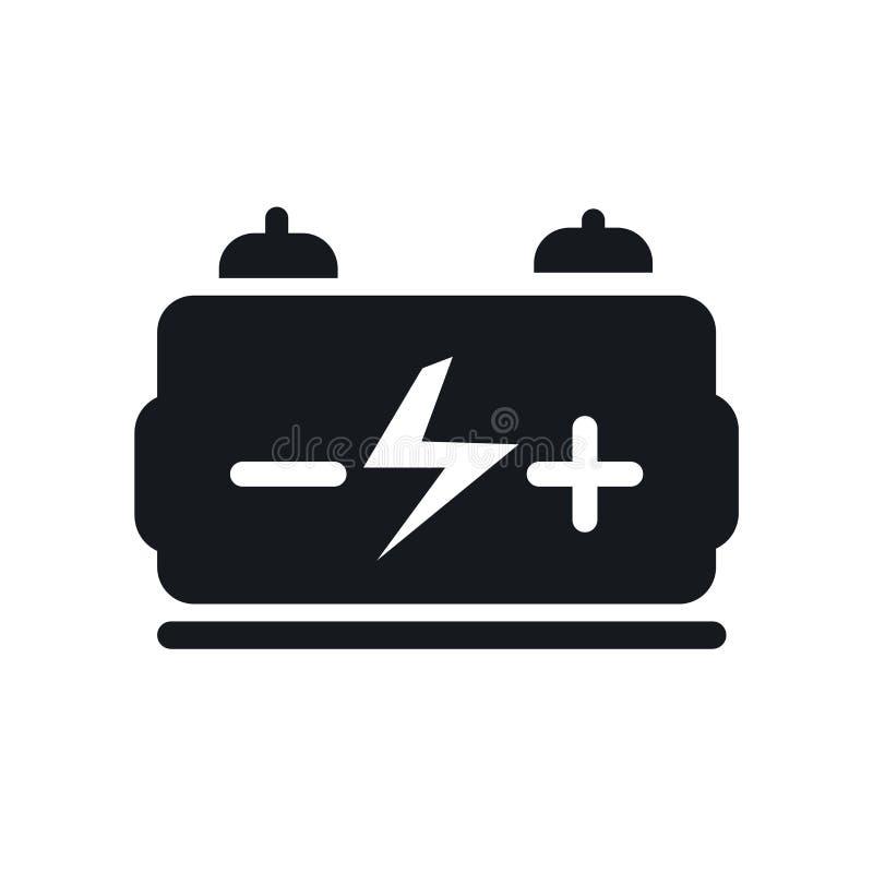 Signe et symbole de vecteur d'icône de générateur d'isolement sur le fond blanc, concept de logo de générateur illustration libre de droits