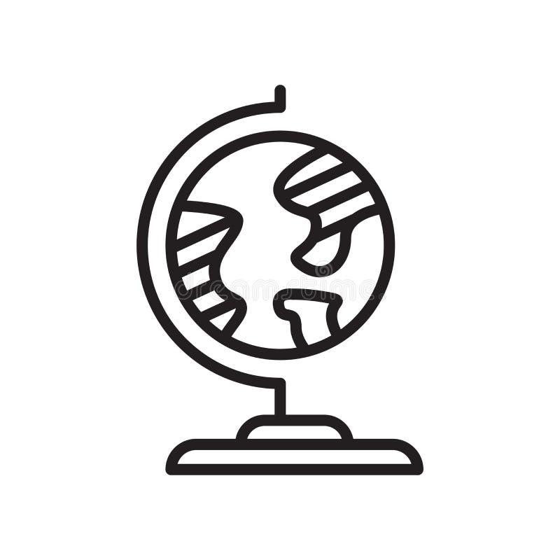 Signe et symbole de vecteur d'icône de géographie d'isolement sur le backgrou blanc illustration de vecteur