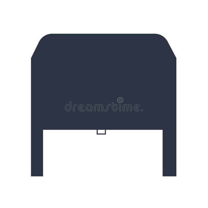 Signe et symbole de vecteur d'icône de garage d'isolement sur le fond blanc, concept de logo de garage illustration stock