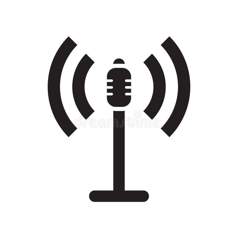 Signe et symbole de vecteur d'icône de haut-parleurs bruyants d'isolement sur le fond blanc, concept de logo de haut-parleurs bru illustration libre de droits