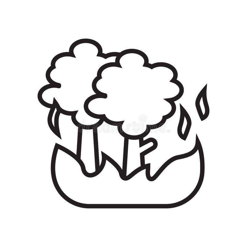 Signe et symbole de vecteur d'icône d'incendie de forêt d'isolement sur le backgr blanc illustration stock