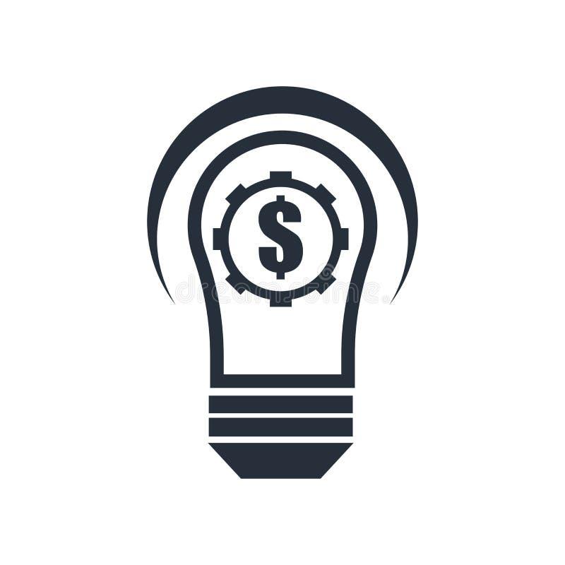 Signe et symbole de vecteur d'icône d'innovation de Fintech d'isolement sur le fond blanc, concept de logo d'innovation de Fintec illustration stock