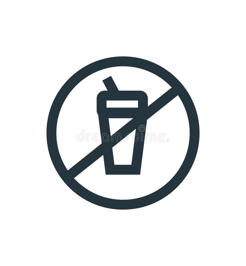 Signe et symbole de vecteur d'icône d'interdiction d'isolement sur le fond blanc, concept de logo d'interdiction illustration libre de droits