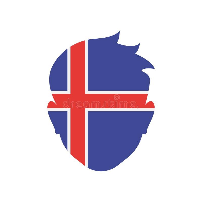 Signe et symbole de vecteur d'icône de l'Islande d'isolement sur le fond blanc illustration libre de droits