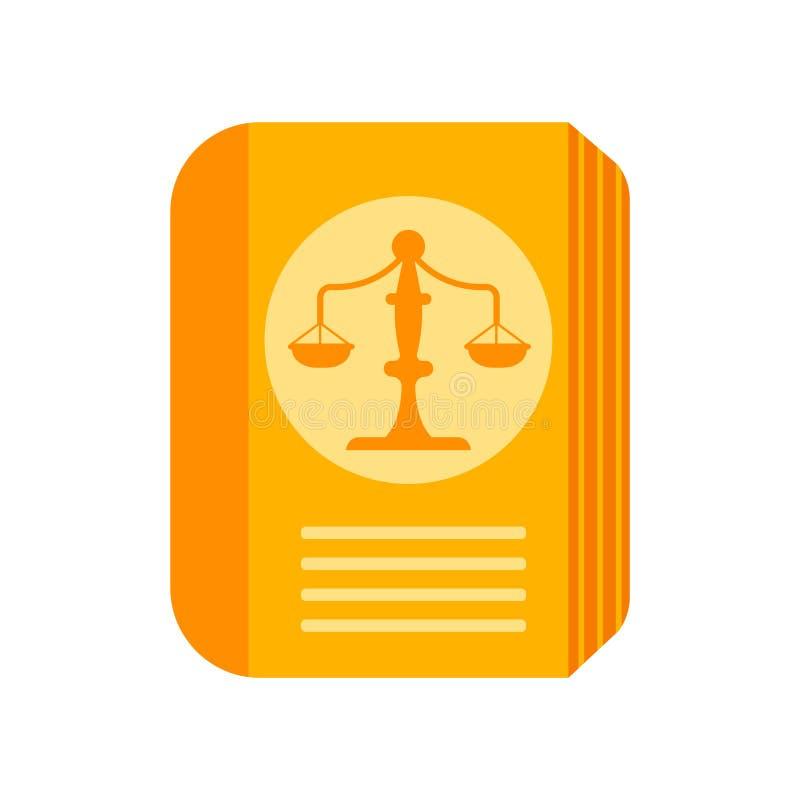Signe et symbole de vecteur d'icône de livre de loi d'isolement sur le backgroun blanc illustration libre de droits