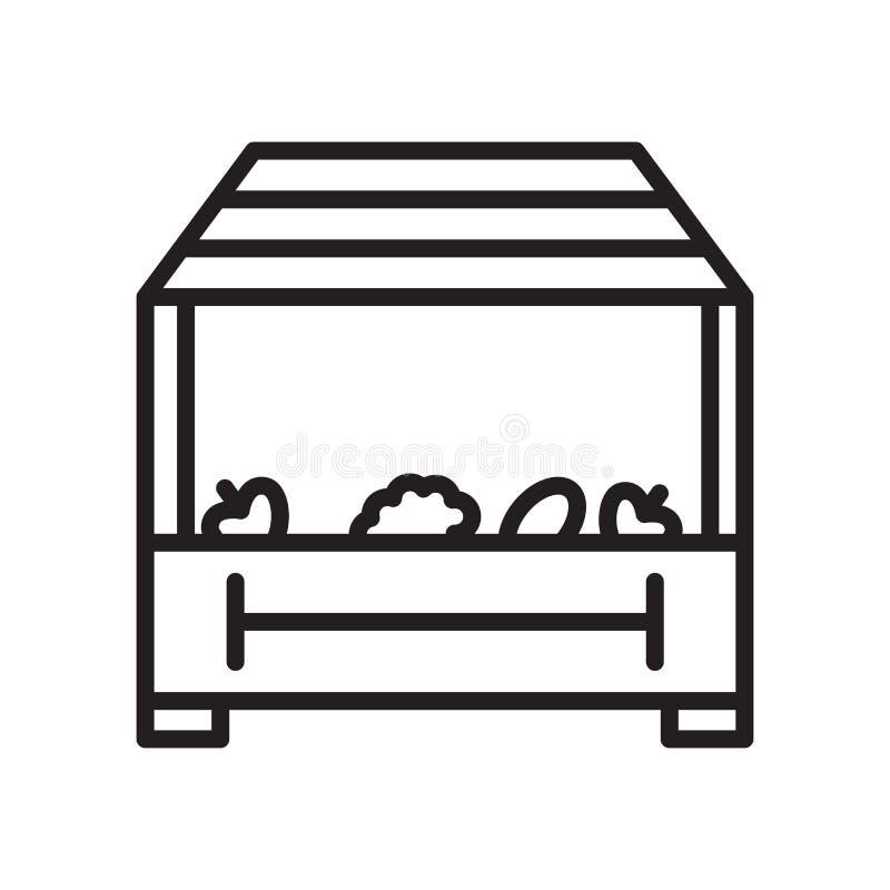 Signe et symbole de vecteur d'icône de magasin d'isolement sur le fond blanc illustration stock