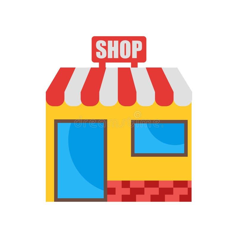 Signe et symbole de vecteur d'icône de magasin d'isolement sur le fond blanc illustration libre de droits