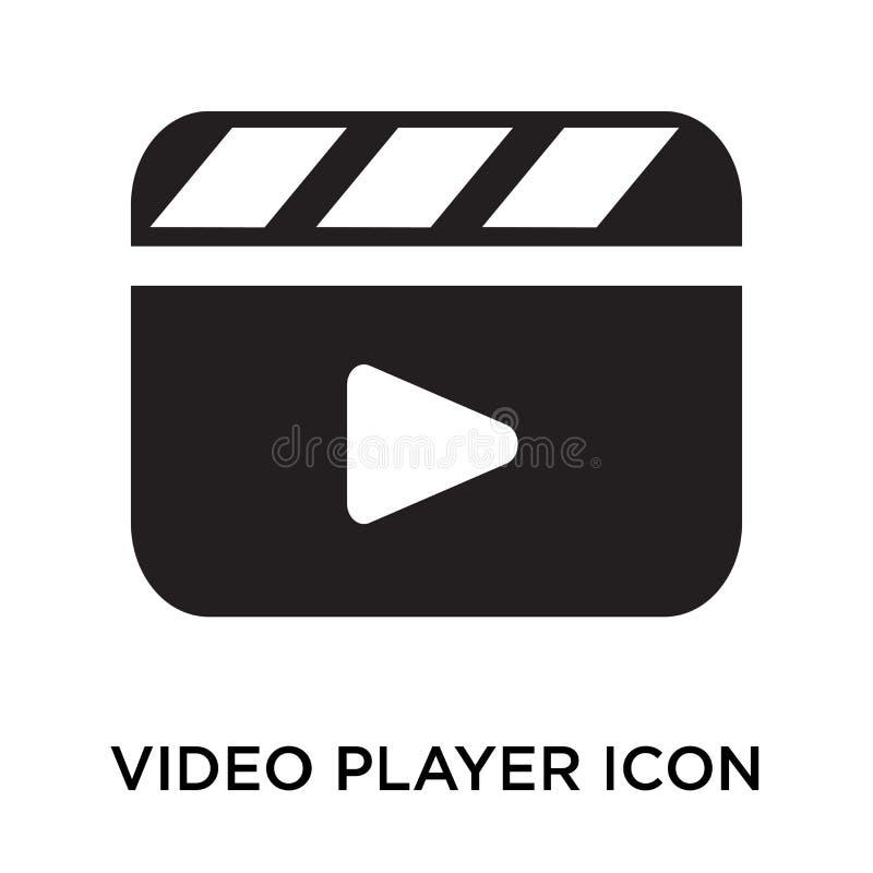 Signe et symbole de vecteur d'icône de magnétoscope d'isolement sur le backg blanc illustration libre de droits