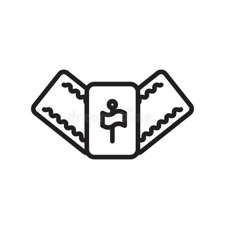 Signe et symbole de vecteur d'icône de Mahjong d'isolement sur le fond blanc illustration stock