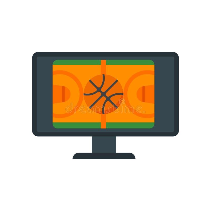 Signe et symbole de vecteur d'icône de match d'isolement sur le fond blanc, concept de logo de match illustration stock