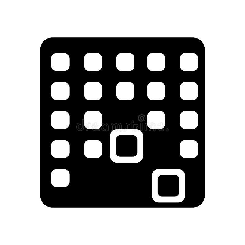 Signe et symbole de vecteur d'icône de Matrix d'isolement sur le fond blanc illustration libre de droits