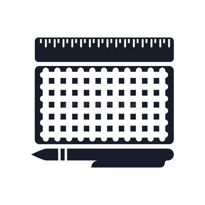 Signe et symbole de vecteur d'icône de modèle d'isolement sur le fond blanc, concept de logo de modèle illustration stock