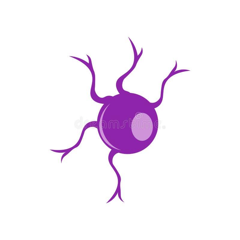 Signe et symbole de vecteur d'icône de neurone d'isolement sur le fond blanc illustration de vecteur