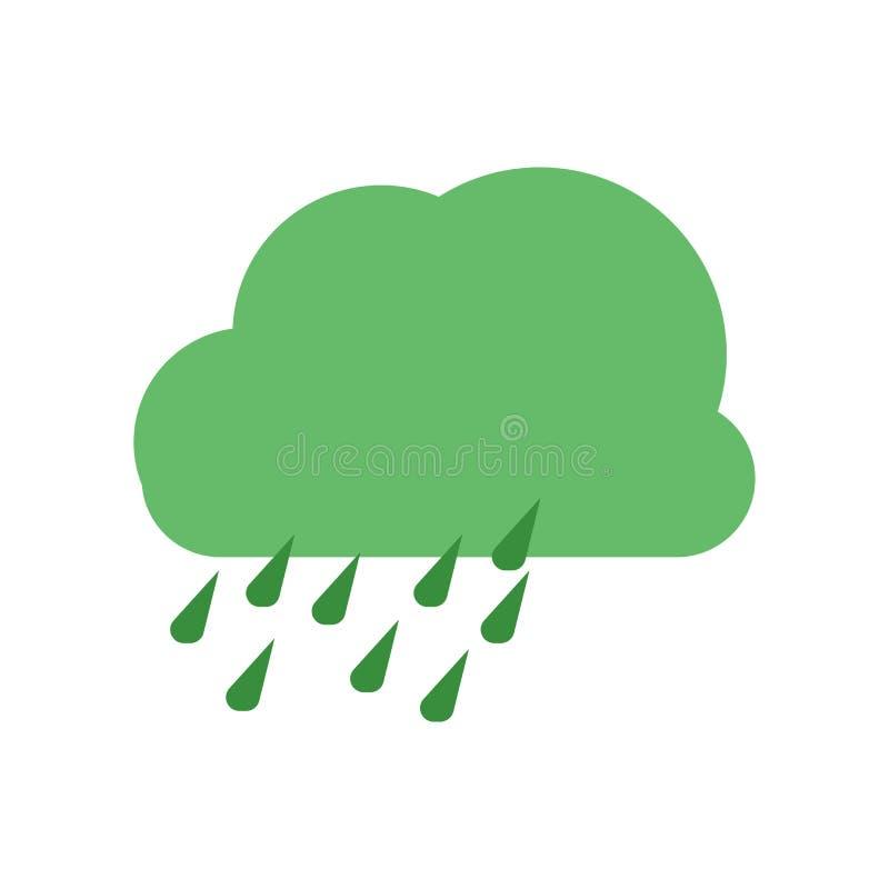 Signe et symbole de vecteur d'icône de nuage d'isolement sur le fond blanc, concept de logo de nuage illustration stock
