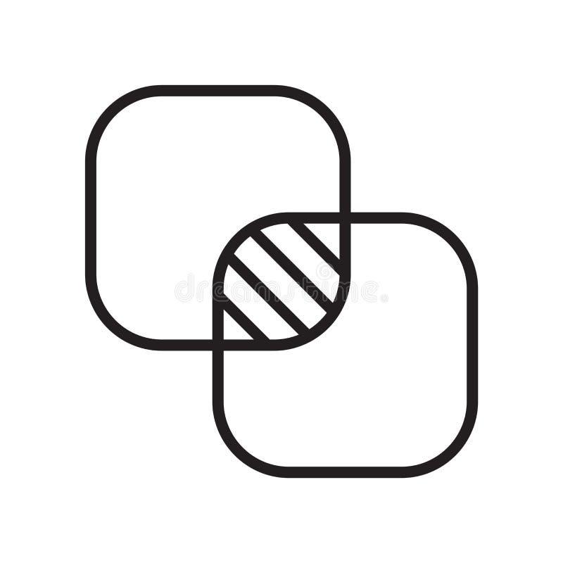 Signe et symbole de vecteur d'icône d'opacité d'isolement sur le fond blanc, concept de logo d'opacité illustration stock