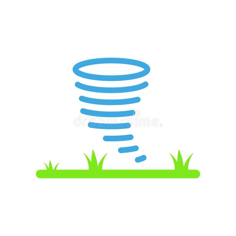 Signe et symbole de vecteur d'icône d'ouragan d'isolement sur le backgrou blanc illustration de vecteur