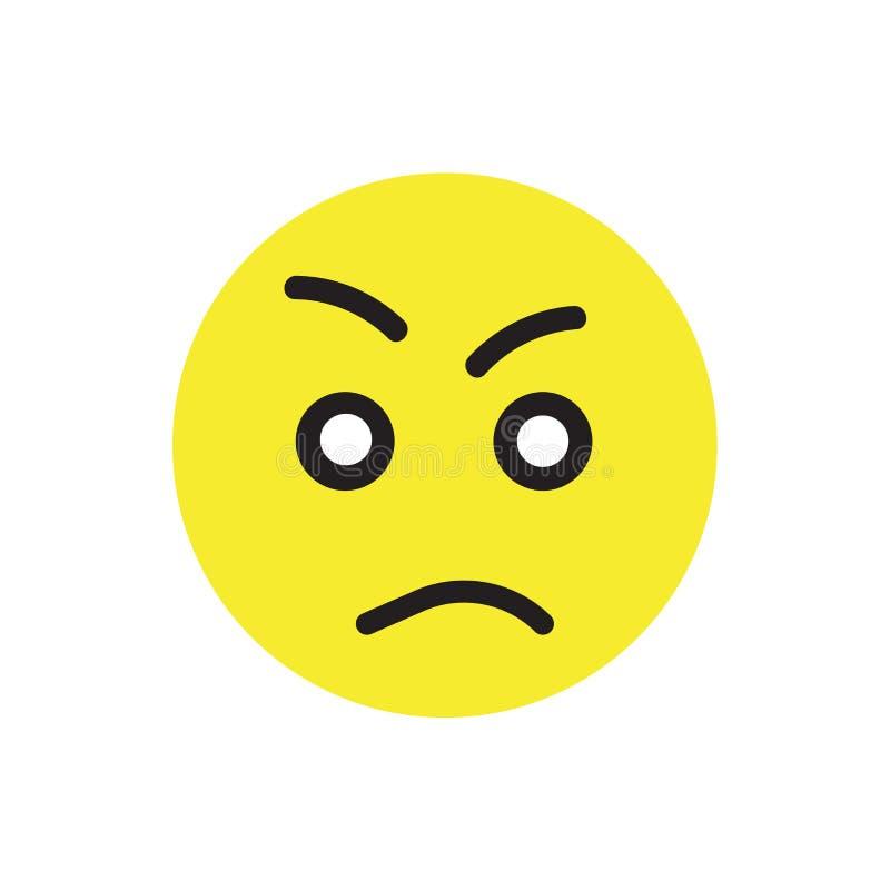 Signe et symbole de vecteur d'icône d'outrage d'isolement sur le fond blanc illustration de vecteur