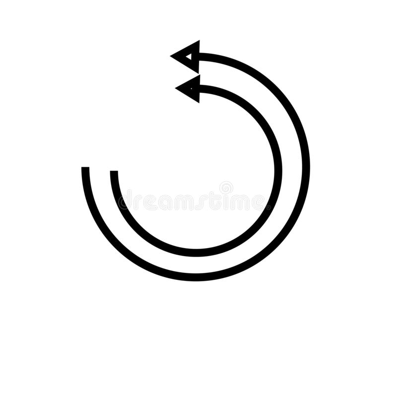 Signe et symbole de vecteur d'icône de page Web de recharge d'isolement sur le fond blanc, concept de logo de page Web de recharg illustration stock