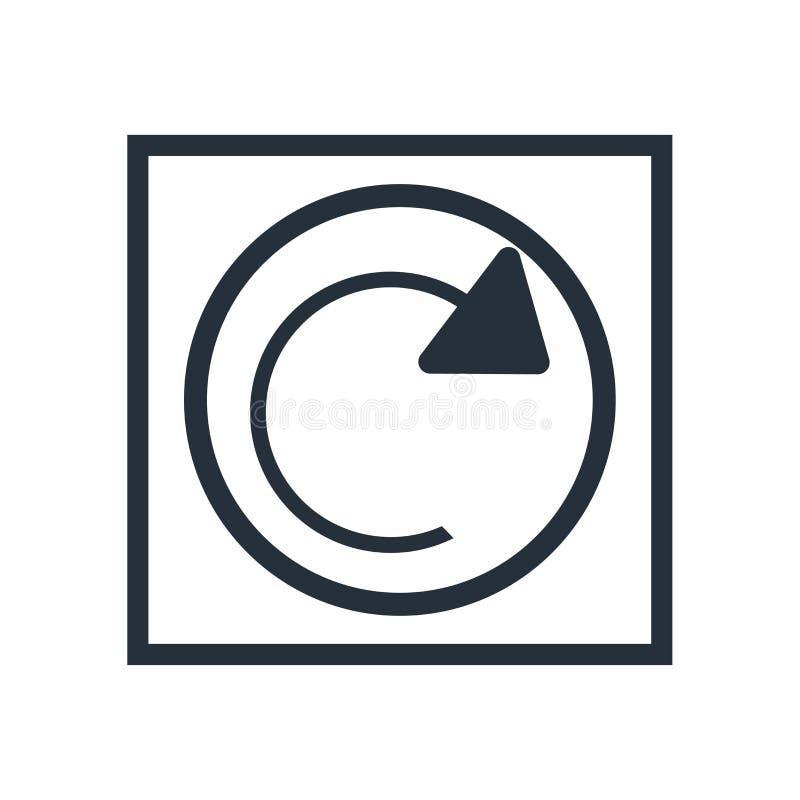 Signe et symbole de vecteur d'icône de page Web de recharge d'isolement sur le fond blanc, concept de logo de page Web de recharg illustration de vecteur