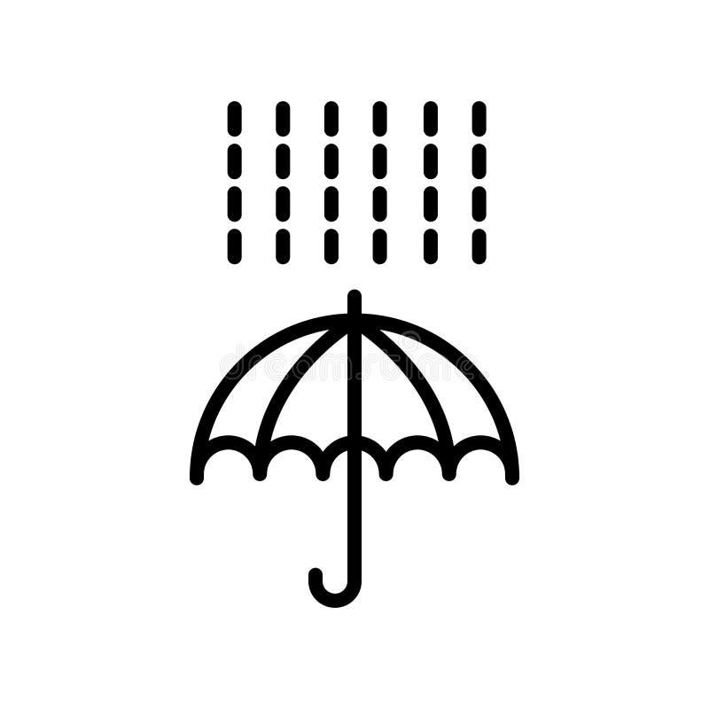 Signe et symbole de vecteur d'icône de parapluie d'isolement sur le fond blanc, concept de logo de parapluie illustration de vecteur