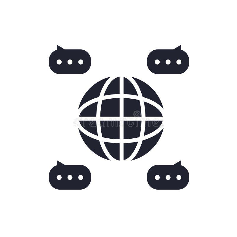 Signe et symbole de vecteur d'icône de part d'isolement sur le fond blanc, concept de logo de part illustration stock