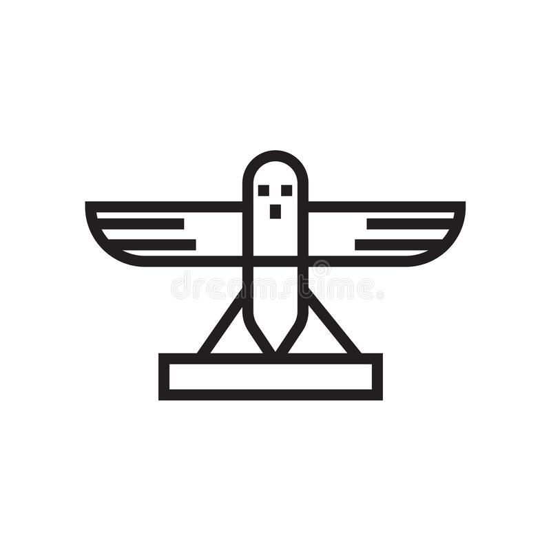 Signe et symbole de vecteur d'icône de pigeon d'isolement sur le fond blanc illustration de vecteur