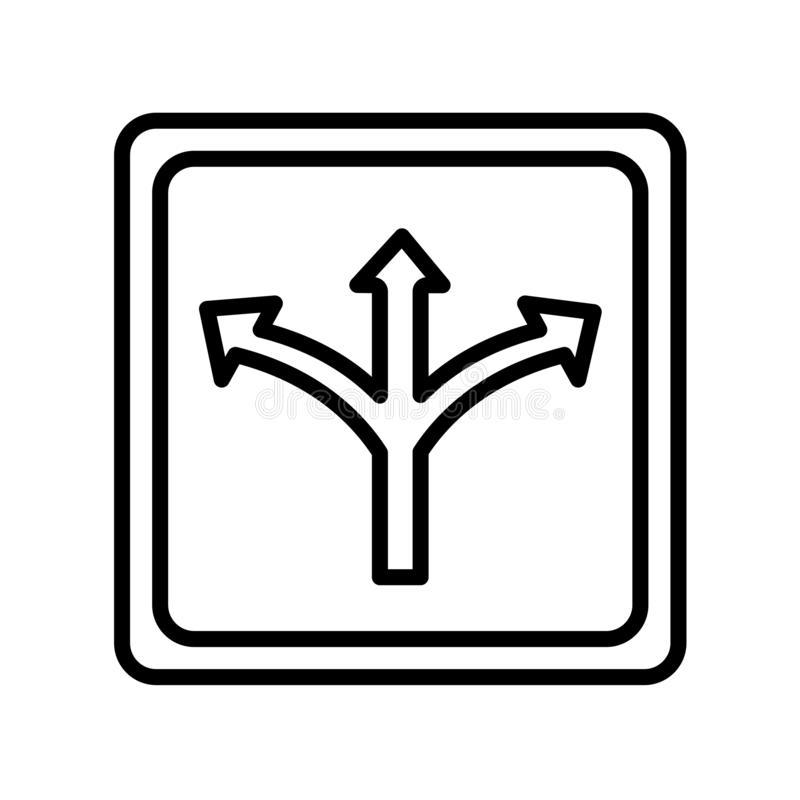 Signe et symbole de vecteur d'icône de poteau de signalisation d'isolement sur le backg blanc illustration libre de droits