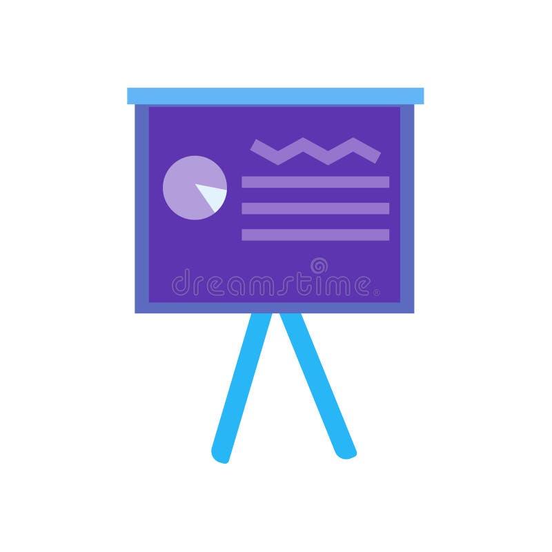 Signe et symbole de vecteur d'icône de présentation d'isolement sur le fond blanc, concept de logo de présentation illustration libre de droits