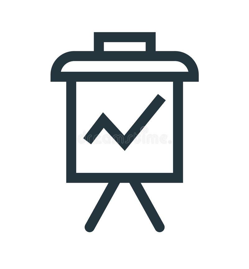 Signe et symbole de vecteur d'icône de présentation d'isolement sur le fond blanc, concept de logo de présentation illustration stock